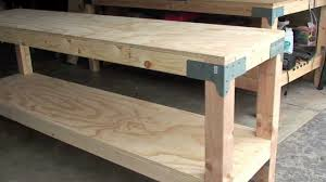 garage workbench portable garageorkbench plansith drawers ideas