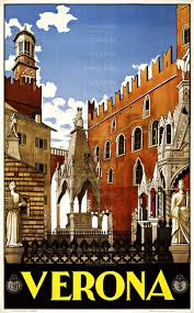 vintage verona italy travel print wall decor prints home decor