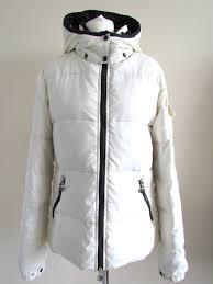 high quality moncler women jacket size medium white poyamide uk