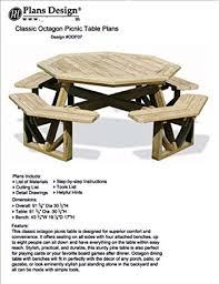 Plans For Picnic Table With Attached Benches by Classic Large Octagon Picnic Table Bench Woodworking Project