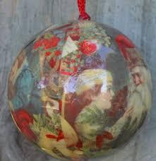 vintage glass paper mache ornament style