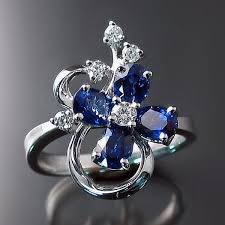 design jewelry rings images Sapphire ring flower design zoran designs jewelry jpg
