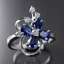 design jewelry rings images Sapphire ring flower design zoran designs jewelry jpg