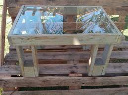 Table Glass Top Simple Pallet Table With Glass Top