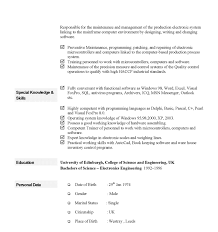 simple curriculum vitae format curriculum vitae exle