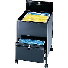 safco 1 drawer locking mobile pedestal file cabinet black