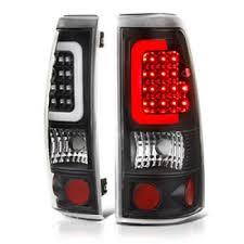 2004 gmc sierra tail lights gmc sierra 2500 1999 2004 black led tail lights tube a135evys109