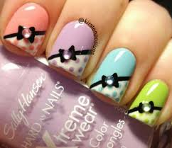 nail art how to adorable pastel bow french nails by kirsten