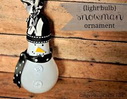 snap crafts light bulb snowman ornament tutorial