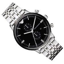 armani steel bracelet images Emporio armani watch chronograph stainless steel bracelet 43mm jpg