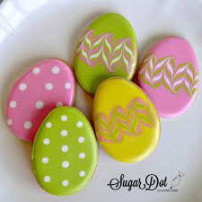 easter sugar eggs easter cookies sugar dot cookies handmade decorated sugar