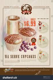 Bakery Price List Template Bakery Advertisement Design Template Stock Vector 99508562