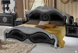 chambre a coucher adulte noir laqué thya laque noir et argent ensemble chambre a coucher lignemeuble com