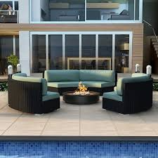 Curved Modular Outdoor Seating by Modern Wicker Sectional Outdoor Sofa Sets Curved Outdoor Sofa