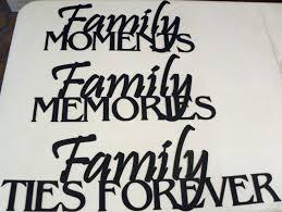 made family memories phrase set 3 steel metal wall