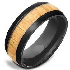 titanium colored rings images 8mm polished finished black titanium flat edge ring with light jpg