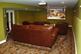 Dual Rocking Reclining Loveseat Traditional Man Cave With French Doors By Wendy Amiano Zillow