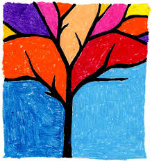 art projects for kids abstract tree my little made this awhile