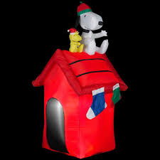 Snoopy Christmas Decorations by Christmas Peanuts Outdoor Inflatables Christmas Wikii