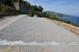 pavimentazione in ghiaia bricofrana on parcheggio realizzato con sistema