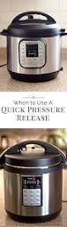 quick pressure release or natural pressure release