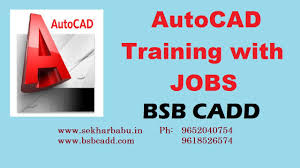 autocad training in hyderabad with jobs bsb cadd youtube