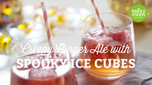 halloween recipe creepy ginger ale with spooky ice cubes