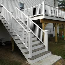 Handrails For Outdoor Steps Attaching Bottom Deck Posts Thisiscarpentry