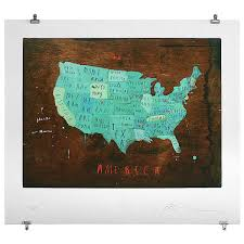 United States America Map by Places In America Map Artwork Illustration Typography Travel
