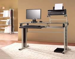 Glass Metal Computer Desk Industrial Computer Desk Uk Inspiring Industrial Office Design