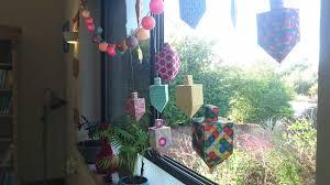 hanukkah window decorations happy hanukkah 5778 papercraft dreidels and of david