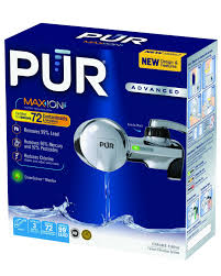 kitchen faucet with built in water filter amazon com pur pfm400h chrome horizontal water filtration faucet