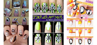 15 simple step by step halloween nail art tutorials 2015 for