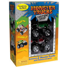 monster jam truck for sale amazon com creativity for kids monster trucks custom shop 2 pack
