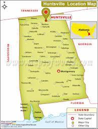 Alabama Maps Where Is Huntsville Located In Alabama Usa