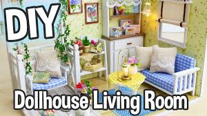 diy miniature dollhouse kit cute living room roombox with working