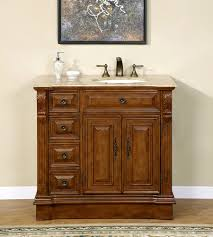 Design House Wyndham Vanity 38 Inch Travertine Top Bathroom Vanity Cabinet Single Sink On The