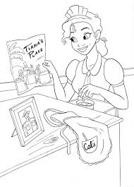 coloring pages princess tiana coloring pages tiana princess and