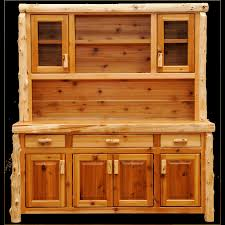 cedar buffet and hutch open shelving quality wood western log
