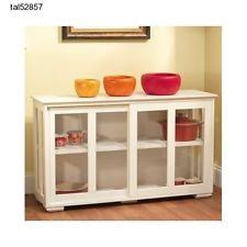 Display Hutch 83562wht Tms Kitchen Storage Cabinet Server Buffet Stackable Hutch