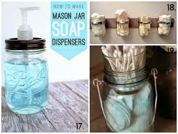 Mason Jar Bathroom Storage by Hand Made Show 20 Ideas Manualidades