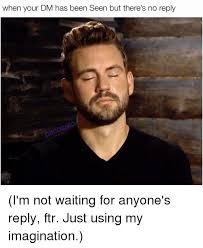 Reply Memes - when your dm has been seen but there s no reply i m not waiting for