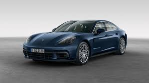 porsche night blue panamera the sports car among luxury saloons