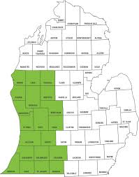 Map Michigan Counties by Medicaid Service Area Priority Health