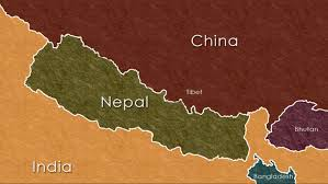 Map Of Nepal And India by Mike Q Daniel
