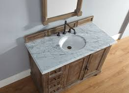 Bathroom Vanity Counter Top by Abstron 48 Inch Driftwood Finish Single Transitional Bathroom