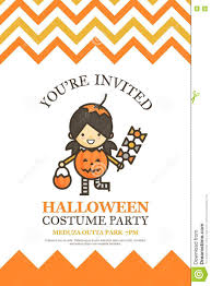 pumpkin halloween invitation card for costume night party c
