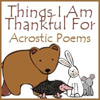 things i am thankful for acrostic poems royal baloo