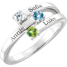 engraved name rings images Silver 1 to 4 stones names engravable mother ring jpeg