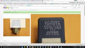 lexus lx470 vsc trac light 2004 prius code c1253 fix hydro booster relay after brake